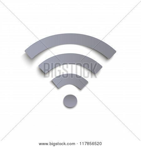 Wi-fi icon isolated on white background.