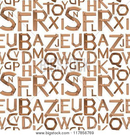 Seamless english alphabet design illustration