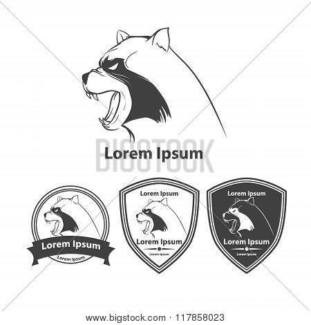 Raccoon Angry Logo