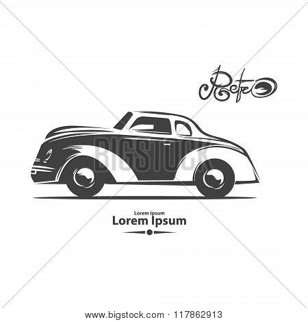 Retro Car Profile View