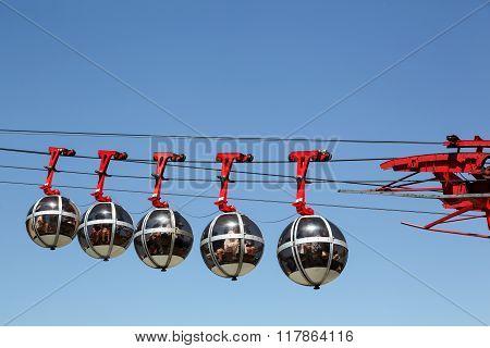 Grenoble Bastille cable car in France