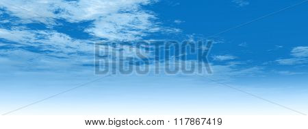 High resolution beautiful blue natural sky with white clouds paradise cloudscape background banner