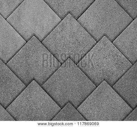 Stone wall, pavement