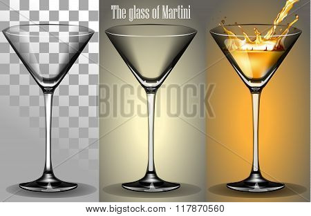 The transparent Glass of Martini