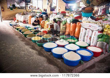 market in Ninh Binh city, Vietnam