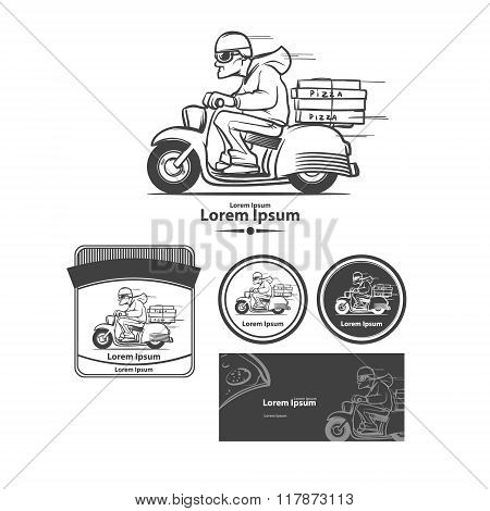 pizza delivery image elements