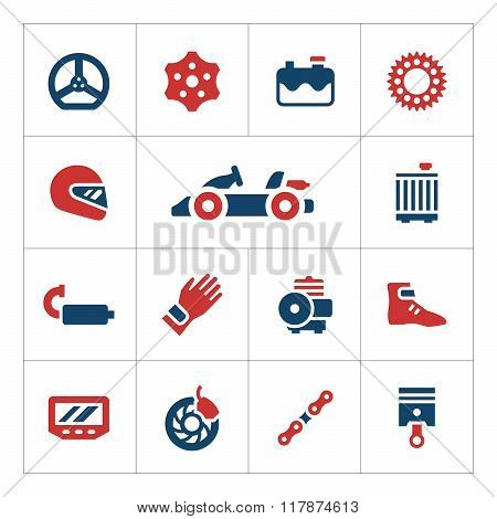 Set color icons of karting