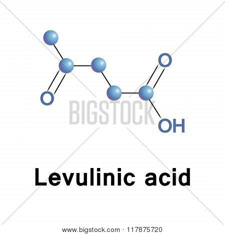 Molecule of levulinic acid