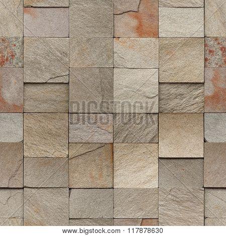 Sandstone Bricks Seamless Background Texture