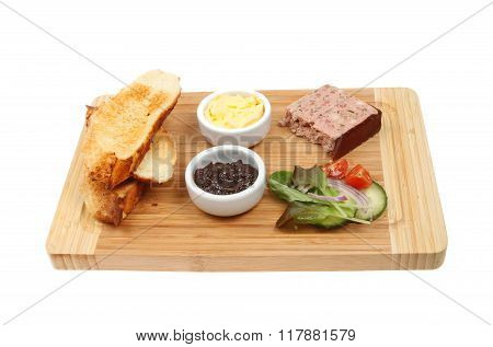 Pate Toast And Salad
