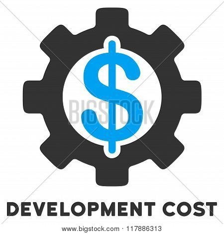 Development Cost Flat Icon with Caption