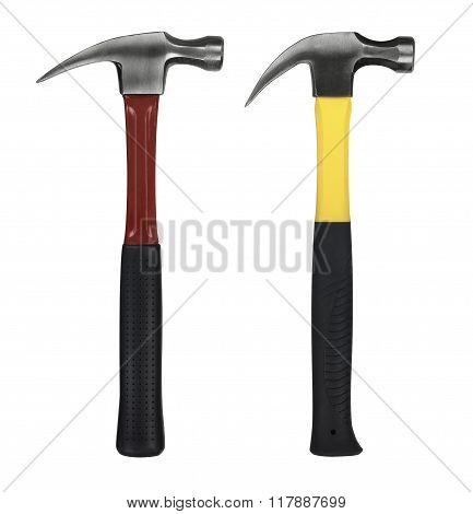 Yellow And Red Hammer On White Background