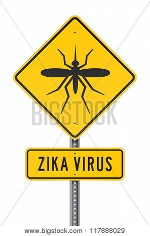 Zika Virus Roadsign