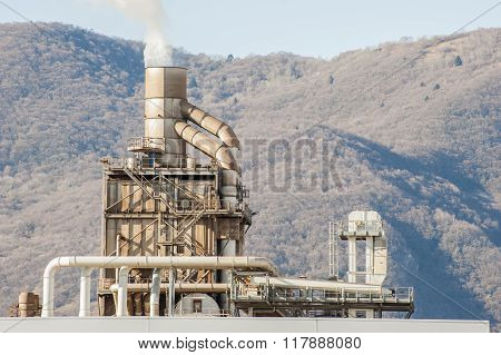 Smokestack Of A Factory.
