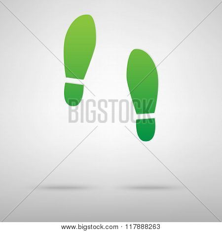 Imprint soles shoes green icon