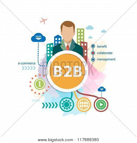B2B (business To Business) Concepts For Web Banner