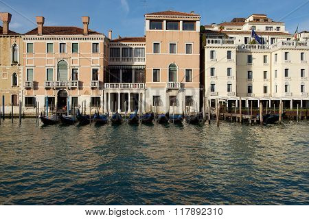 Venice, Italy. Panoramic view of Venice, Grand Canal. Venice street, view of Venice canal. Venice