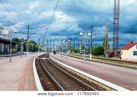 freight train station. Ukraine of Kozyatyn