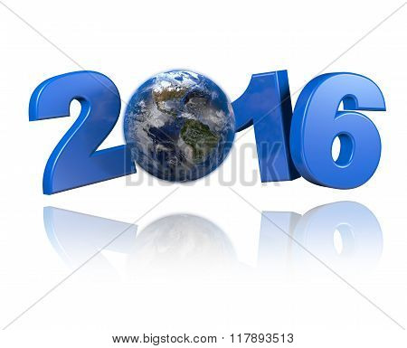 Americas Centered Earth View 2016 Design