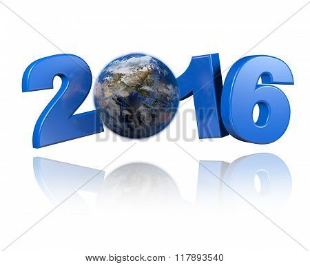 Asia Centered Earth View 2016 Design