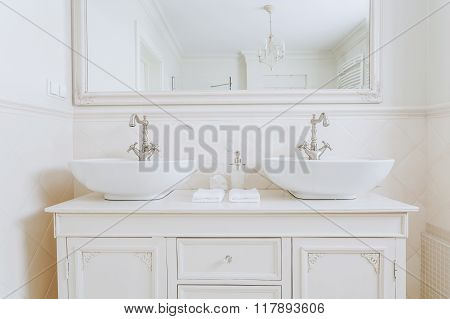 Two Washbasins For A Couple
