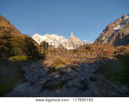 Cerro Torre Needle Peak In Park Los Glaciares In Patagonia