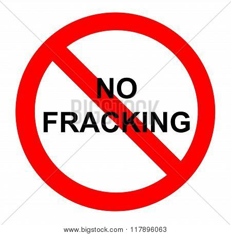No fracking demonstration sign