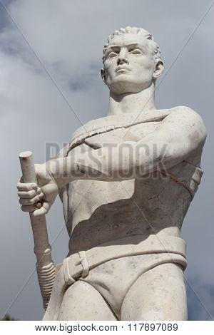 Oarsman Statue At Stadio Dei Marmi, Rome, Italy