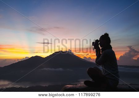 woman photographer - Stock image