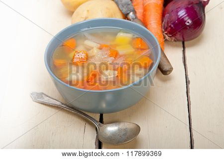 Traditional Italian Minestrone Soup