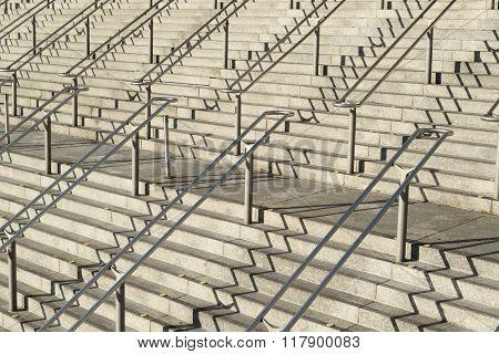Stairways with handrails