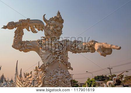 Statue Of Demon In Asian Mythology