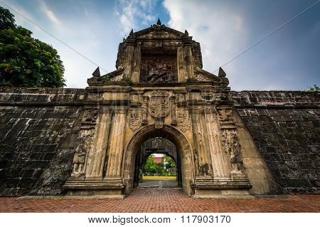 Entrance To Fort Santiago, In Intramuros, Manila, The Philippines.