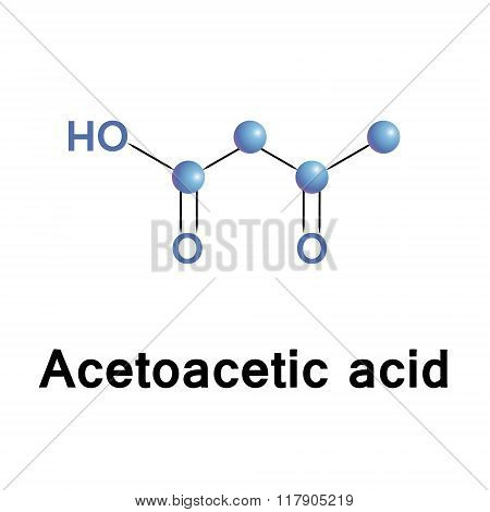 Acetoacetic acid structure.