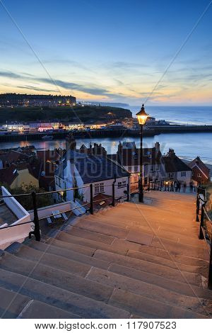 Sunset From The 199 Steps Whitby