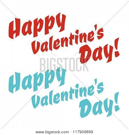 Happy Valentines Day greeting cards text vector illustration