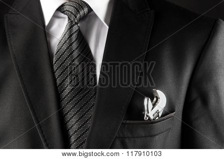 Business Concept Businessman and Wrench