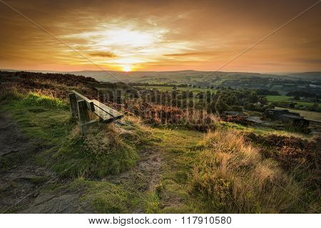 Sunset at Norland moor Halifax West Yorkshire