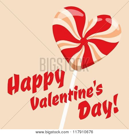 Happy Valentines Day greeting cards candy vector illustration