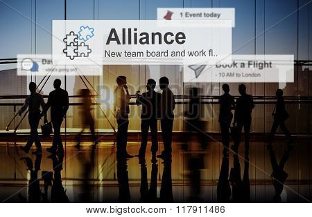 Alliance Merge Partnership Collaboration Concept