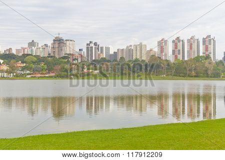 Birigui Park At Curitiba, Parana, Brazil.