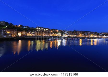 Whitby North Yorkshire UK 11th September 2015. UK Weather A beautiful night long exposure.
