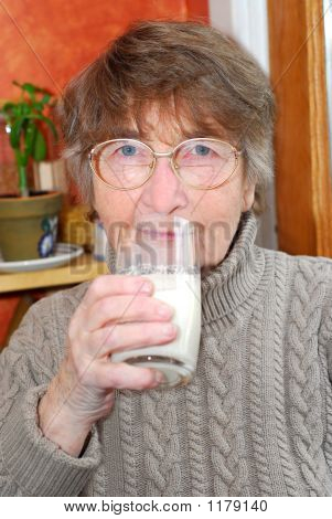 Woman Glass Milk