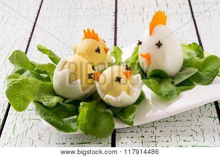 Easter Appetizer Of Boiled Eggs
