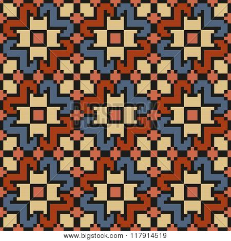 Vintage floral seamless stitching pattern in desaturated colors