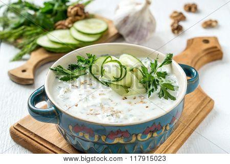 Spring Bulgarian Cold Soup Tarator