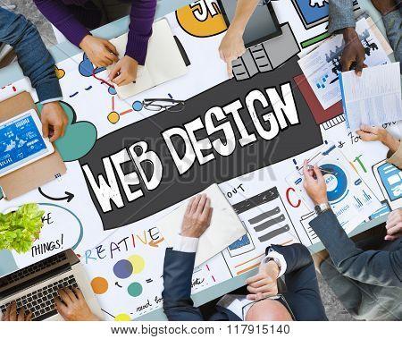 Web Design Page Layout Website Concept