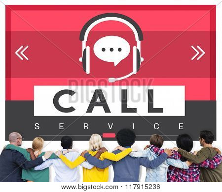 Call Contact Us Connect Service Concept