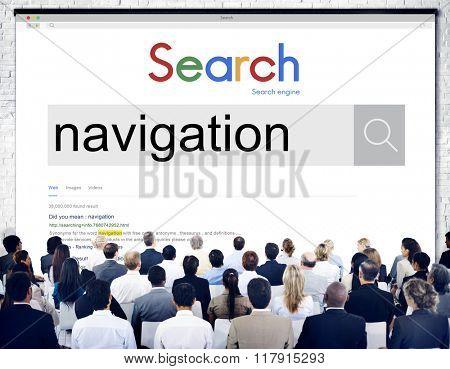 Navigation Position Guide Location GPS Concept