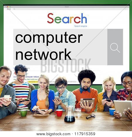 Computer Network Online Internet Connect Concept